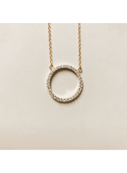Serendipity Diamond circle necklace