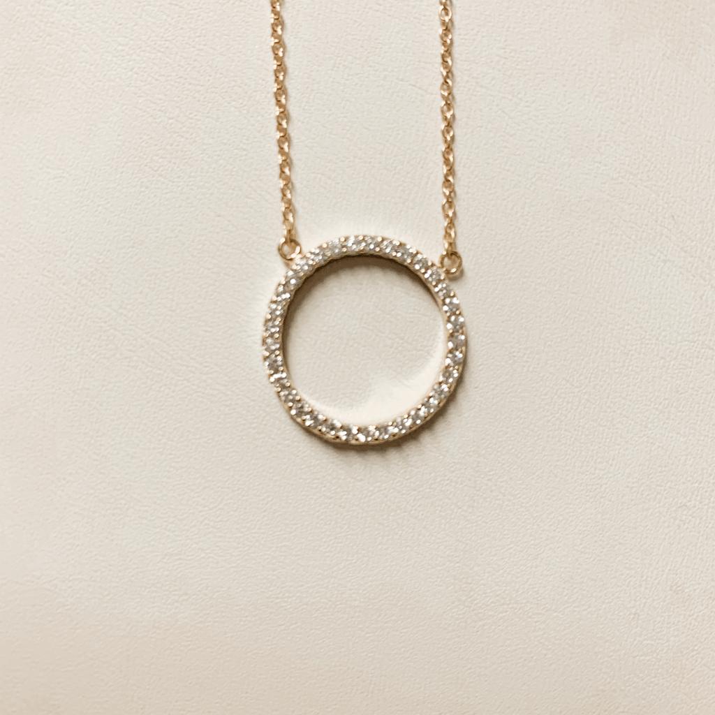 Serendipity Diamond circle necklace