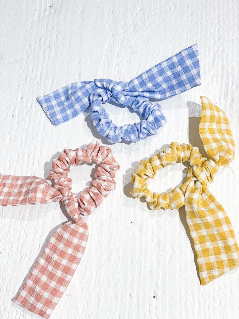 Serendipity Gingham Bow Scrunchie