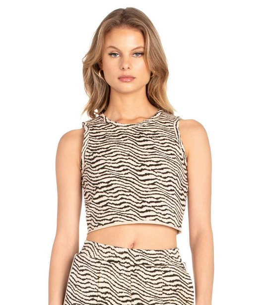 EM & ELLE Animal House Crop Top