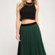 EM & ELLE Sklyer Pleated Midi Skirt