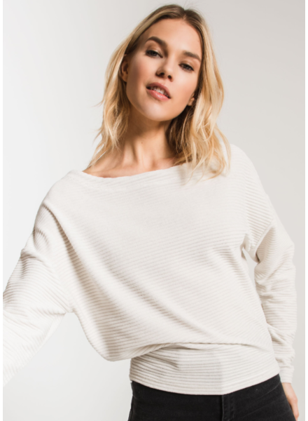 Z Supply The Wide Wale Cord Boat Neck Pullover