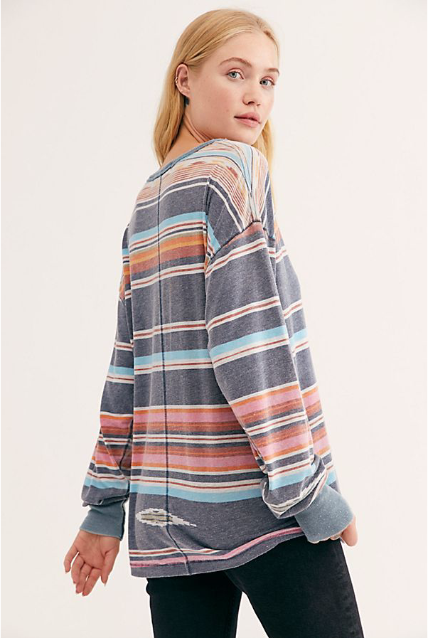Free People Arielle Printed Long Sleeve