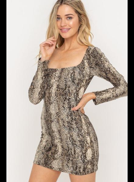 EM & ELLE Python Mini Dress