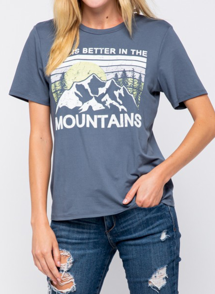 EM & ELLE Mountains Graphic Tee