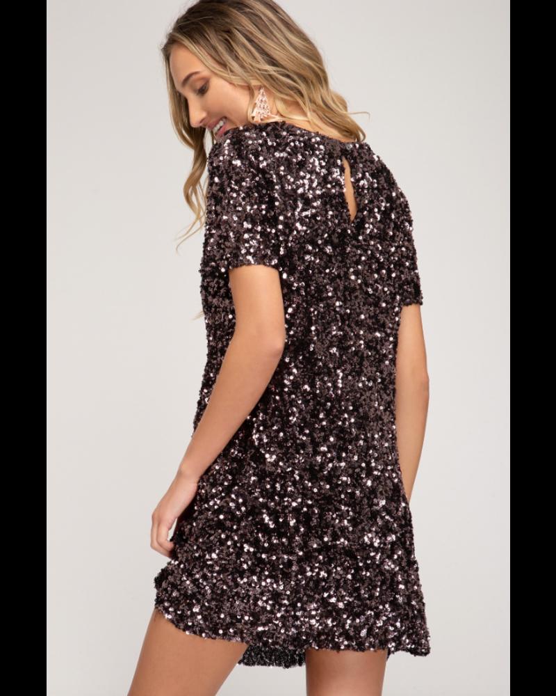EM & ELLE All That Glitters Mini Dress