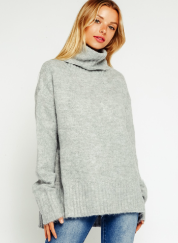 EM & ELLE Cozy Sweater w/ Turtleneck