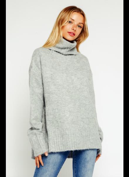 EM & ELLE Cozy Sweater w/ Turtleneck