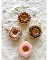One Hundred 80 Degrees Sugar Frosted w/Sprinkles Donut Glass Ornament