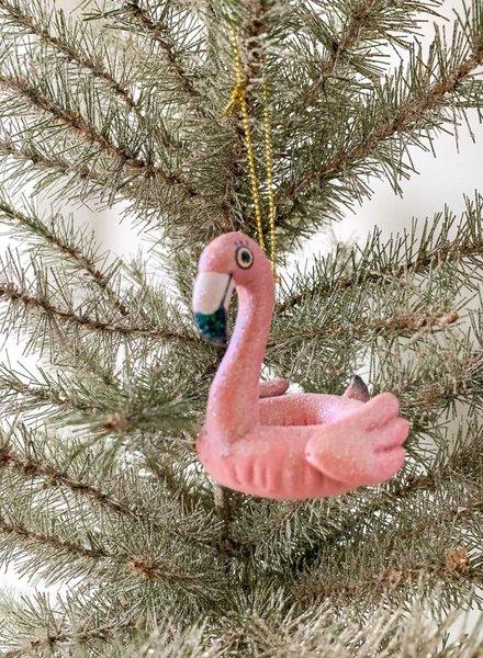 Kurt Adler Flamingo Pool Float Ornament
