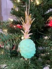 One Hundred 80 Degrees Green Pineapple Ornament