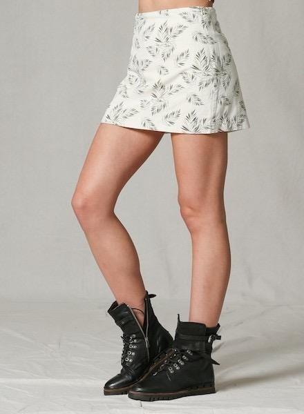 EM & ELLE Clayton Leaf Mini Skirt