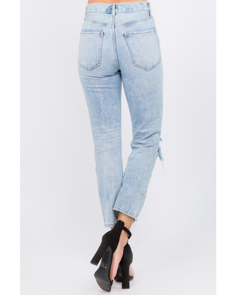 On Twelfth Avery High Waisted Boyfriend Jean