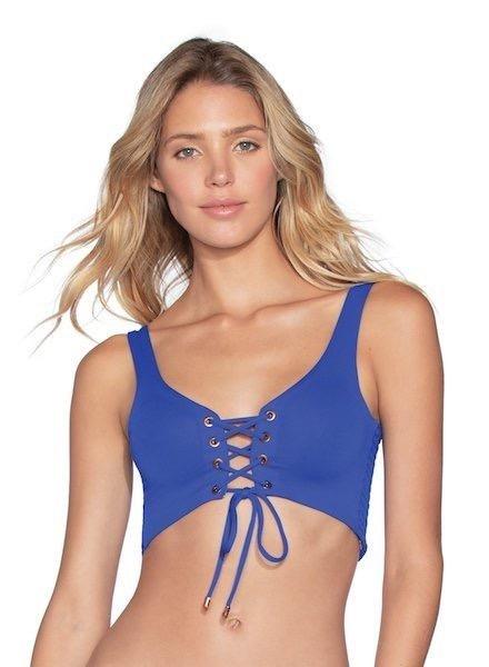Maaji Pacific Blue Smocking Dazzle Bikini Top