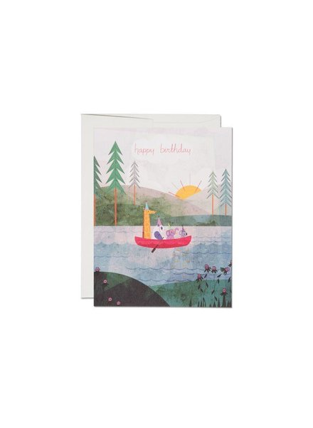 Red Cap Cards Four Canoe