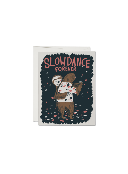Red Cap Cards Slow Dance Sloths Card