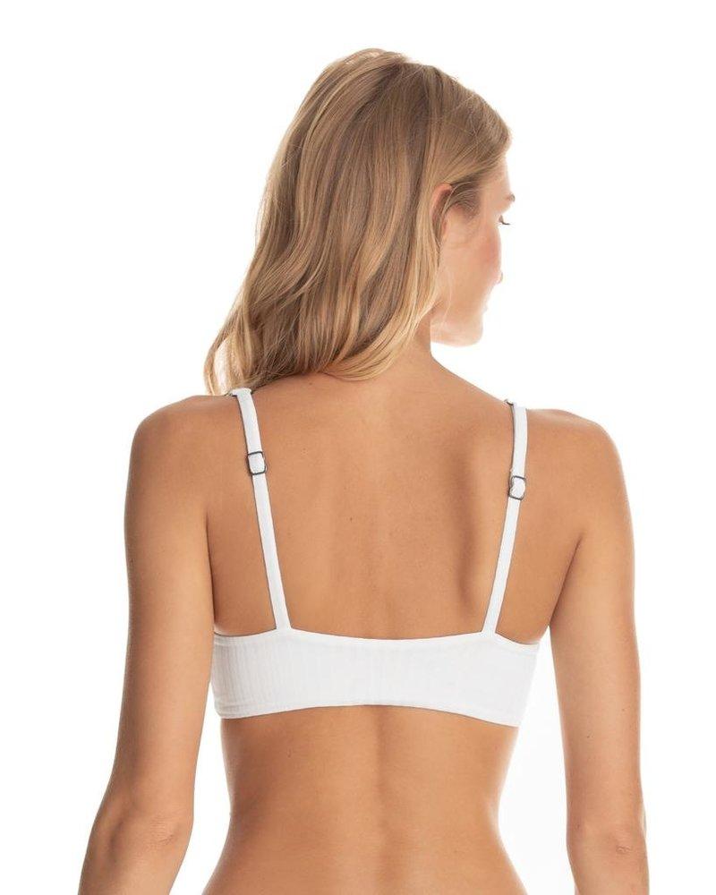 Maaji Card White Pearl Bikini Top