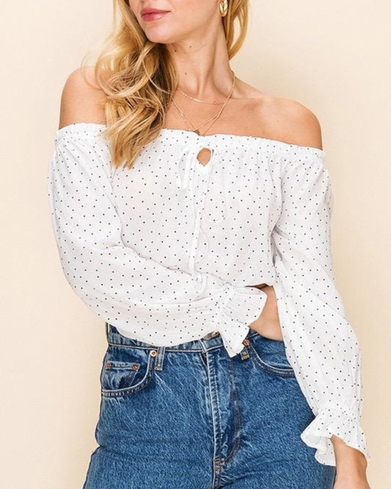 EM & ELLE Maddox Off Shoulder Top