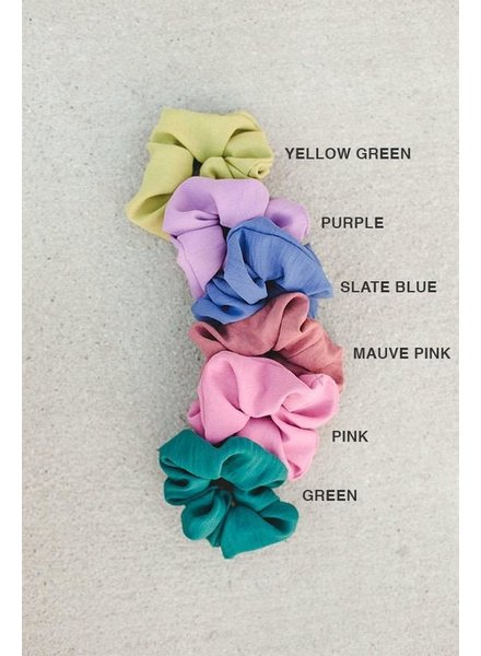 EM & ELLE Solid Color Scrunchie