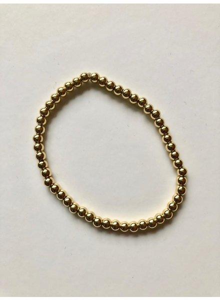 EM & ELLE Essential Brass Beaded Bracelet