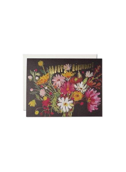 Red Cap Cards Vintage Birthday Bouquet