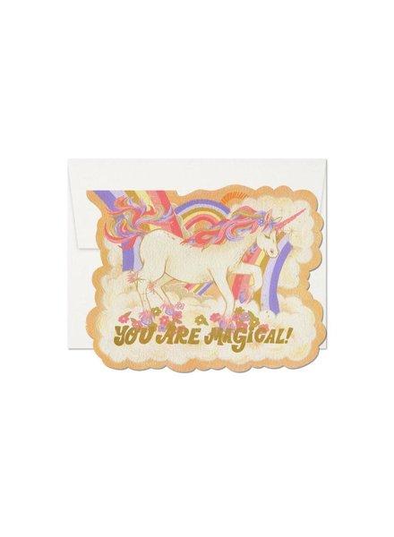 Red Cap Cards Magical Unicorn Card