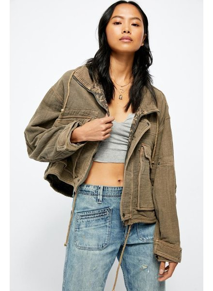 Free People Eyes On You Surplus Jacket