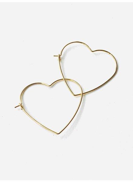 EM & ELLE Heart Hoop Earring