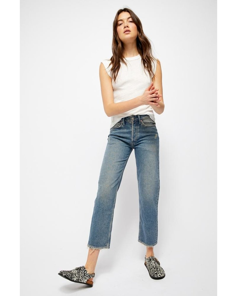 Free People Fast Times Highrise Mom Jean