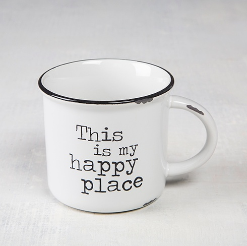 Natural Life Happy Place Camp Mug