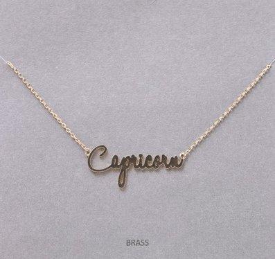 MIsc Script Horoscope Necklace  *Capricorn
