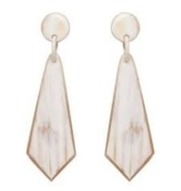 Crystal Shaped Horn Earrings