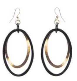 Buffalo Horn Ovals on Wire