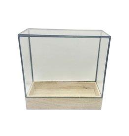 Wood, Iron & Glass Terarrium/Hurricane-Medium