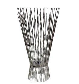 Lg. Metal Twiggy Candleholder Nickel Finish