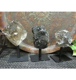 Rock Paradise Smokey Quartz on Metal Stand