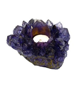 Rock Paradise Crystal Cluster Candle Holder-Purple