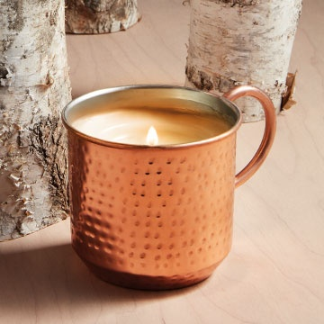 SIMMERED CIDER COPPER CUP CANDLE