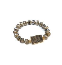 Mickey Lynn Mantra Pearl and Druzy Bracelet