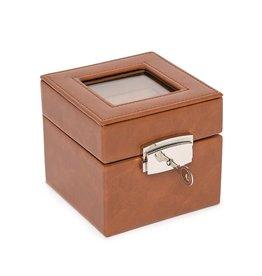 Watch Box 2-Slot-Brown