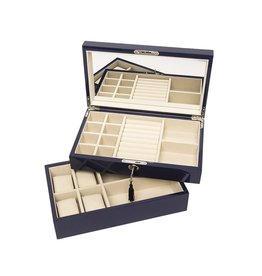 Stackable Jewelry Box-Navy