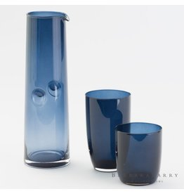 Set of 4 Solstice Glassware-Midnight Blue-Tall