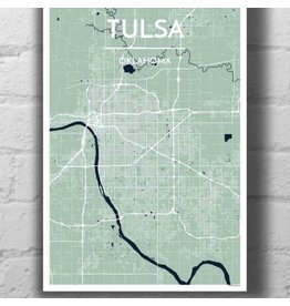 Point Two Design Tulsa 13x19 Map, Opal
