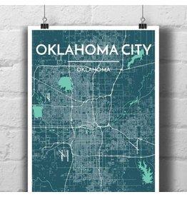 Point Two Design Oklahoma City 13x19 Map, Cello