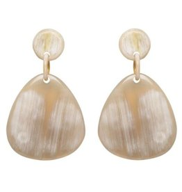 Light Horn Plaque Earrings