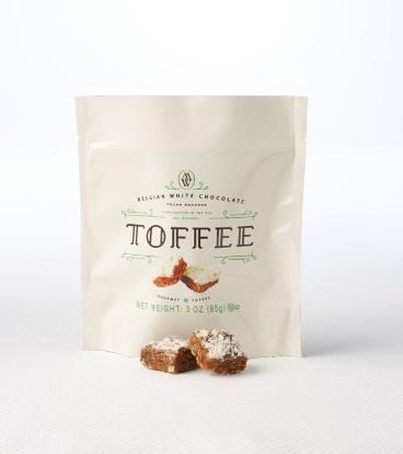 Mrs. Weinstein's Toffee™ Belgian White Chocolate Pecan Toffee Squares (3 oz)