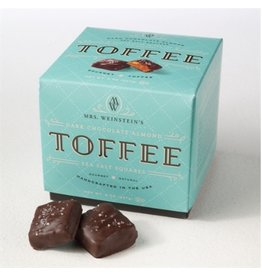 Mrs. Weinstein's Toffee™ Dark Chocolate Almond Sea Salt Toffee Squares (8 oz)