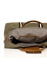 Original Duffel Bag, Military Green with Black/White Straps
