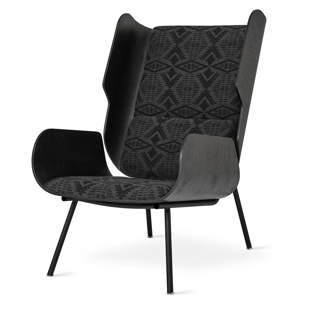 Elk Chair, Pendleton Diamond Charcoal