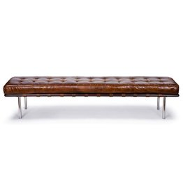 Tufted Gallery Bench (Cigar)